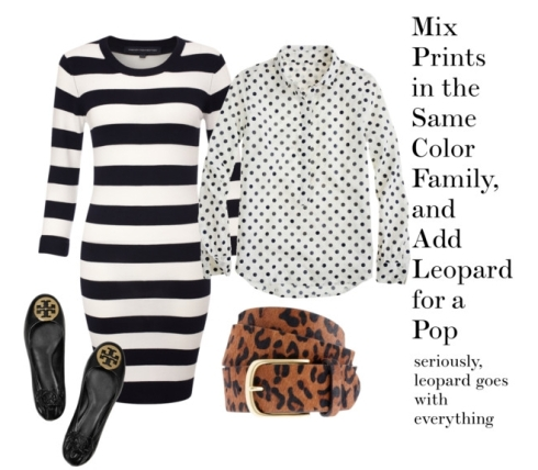 the preppy leopard - graphic print mixing