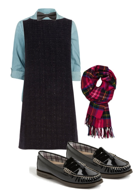 the preppy leopard - bowtie scarf