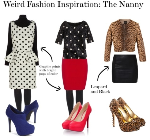 the preppy leopard - the nanny costume inspiration