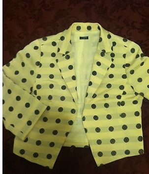 J Crew Summer 2009 Cropped Black and White Polka Dot Jacket Size L $98  eBay - _2013-03-08_10-32-53