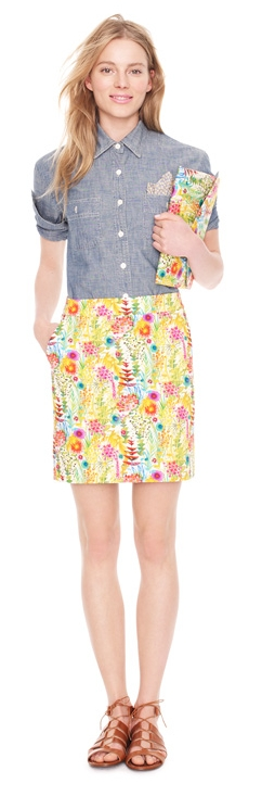 jcrew chambray floral